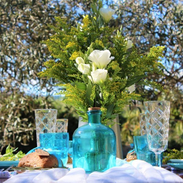 mesa+boda+azul+amarilla