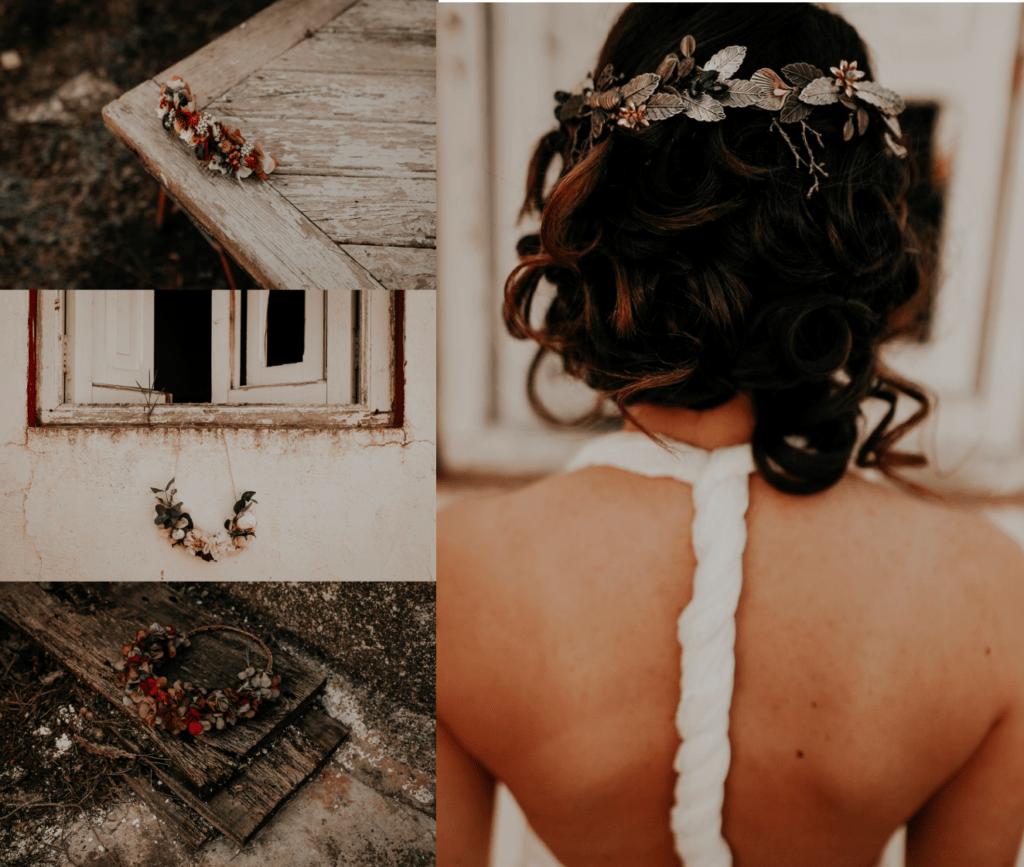 tocado novia boda bohemia valencia