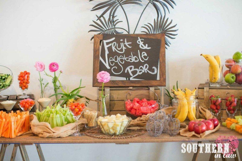 mesa de Frutas y hortalizas boda